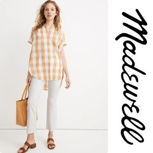 Madewell Central Tunic Shirt in Gingham Check